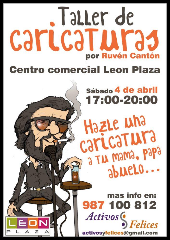 Taller de caricaturas de la mano de RUBEN CANTON en León Plaza