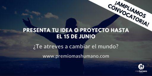 Fundación MÁS HUMANO convoca  la XI Edición del Premio Jóvenes máshumano