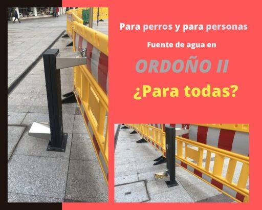 ¿La nueva fuente de Ordoño II es accesible?